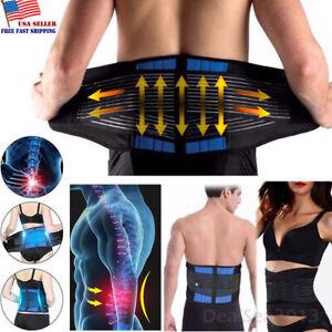 Adjustable-Lumbar-Support-Lower-Waist-Back-Belt-Brace-Pain-Relief-For-Men-Women