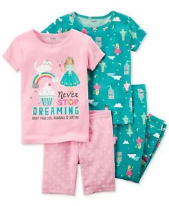 Dreaming Princess Cotton Pajama Set Baby Girls Carters Short & Long 12 M Soft And Antislippery Ingenious 4-pc Baby & Toddler Clothing Clothing, Shoes & Accessories