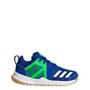 Details zu Adidas Kinder Hallenschuhe FortaGym (D97828) Blau Grün NEU!!!