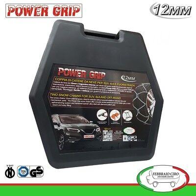 12S245 Catene Neve Power Grip 12mm Suv Omologate Gruppo 245 gomme 245//45r19