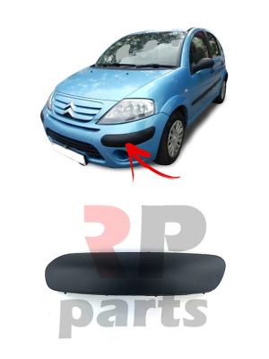 9N 2005-2009 NUOVO Paraurti Anteriore Stampaggio Trim Nero Sinistro N//S Per VW Polo