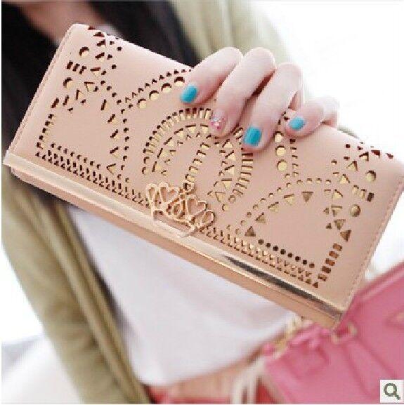 Fashion Hollow Money Clips Change Coin Bag Women's Purse Handbag Ladies Wallet