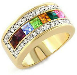 image is loading pride shack lesbian gay pride wedding ring gold - Rainbow Wedding Rings