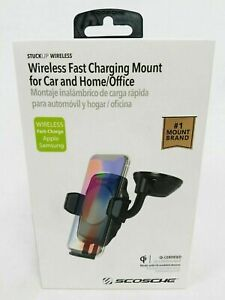SCOSCHE WIRELESS FAST CHARGING MOUNT FOR CAR AND HOME OFFICE QI CERTIFIED