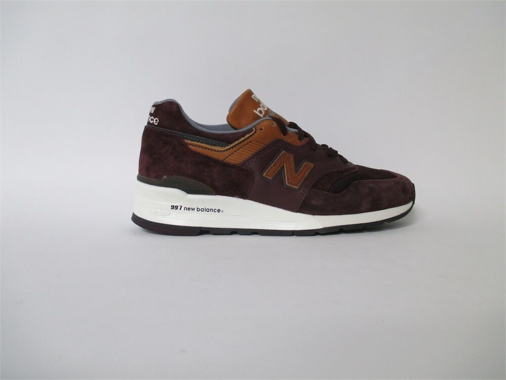New Balance 997 Made in USA Burgundy Tan Sz 10 M997DSLR