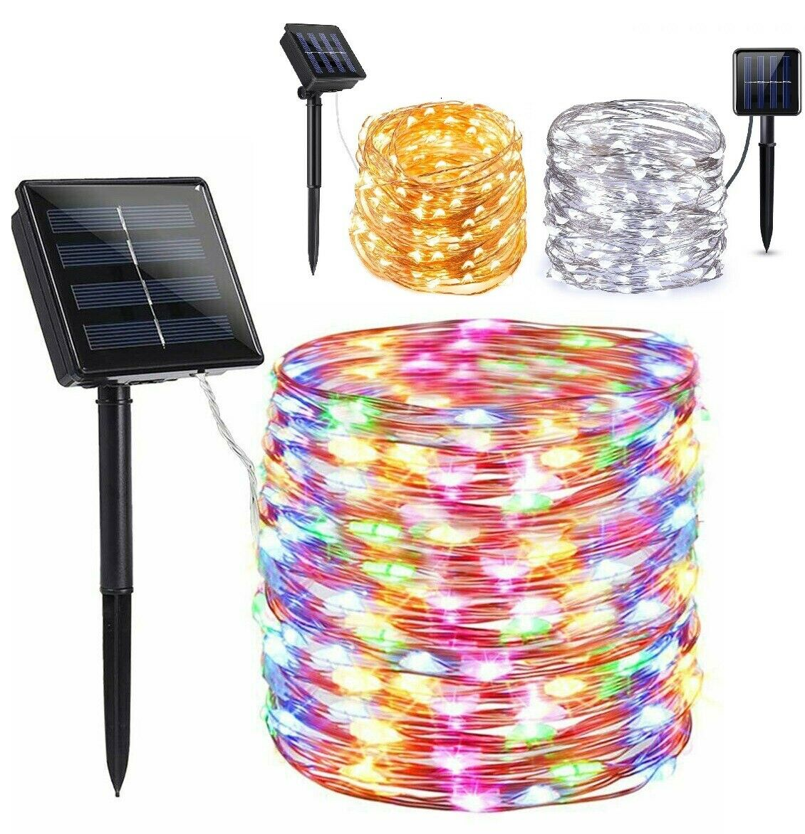 100//200 LED Solar String Fairy Lights Waterproof Outdoor Party Decoration