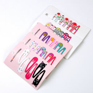 6PCS Girls Beauty Hair Clips Snaps Hairpin Baby Kids Hair Accessories Gift