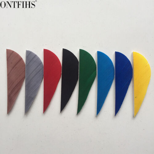 """50pcs 2/"""" Parabolic Fletches Feather Fletching Right Wing"""