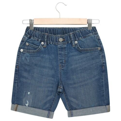 Boys Denim Shorts Kids Blue Pull On Short Distressed Summer Elasticated Waist