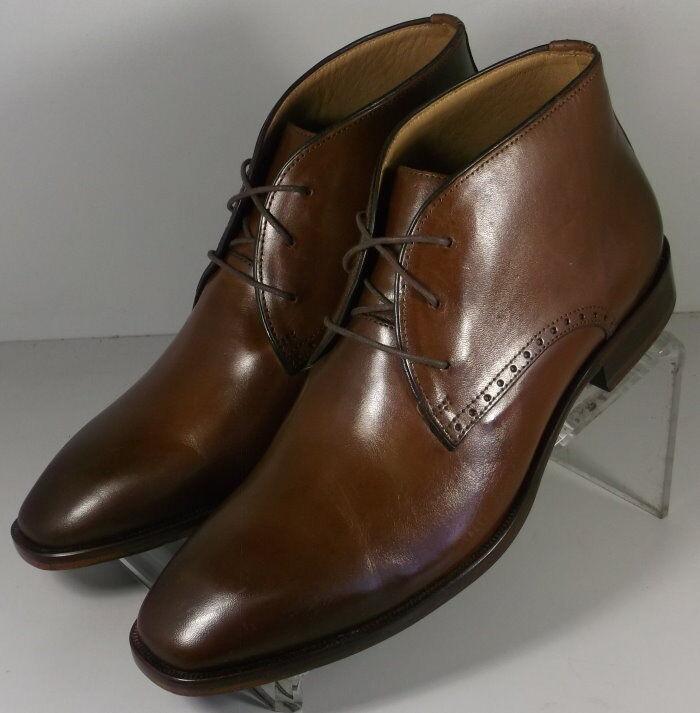 202820 SPBT50 Men's shoes Size 9 M Brown Leather Lace Boots Johnston & Murphy
