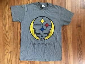 Grateful Dead bolt Pittsburgh Steelers shakedown lot style shirts