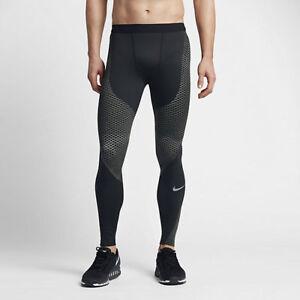 Nike-Zonal-Strength-Men-039-s-Running-Tights-Pant-SZ-S-M-L-Black-Gray-833180-014