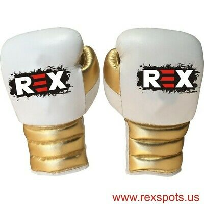 Rex Special Shine Gold Leather Boxing Gloves