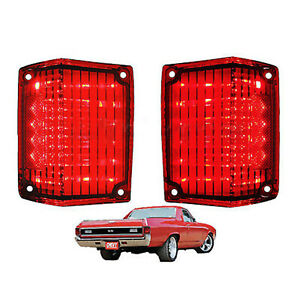 Station Wagon Outer Taillight Tail Light Lamp Lens USA PAIR 65 El Camino