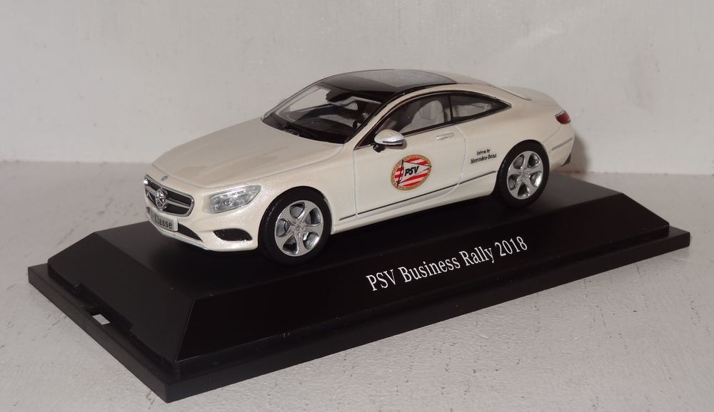 Kyosho MB S-Class Coupé PSV Eindhoven Business Rally 2018 1 43 PC (R2_3_34)