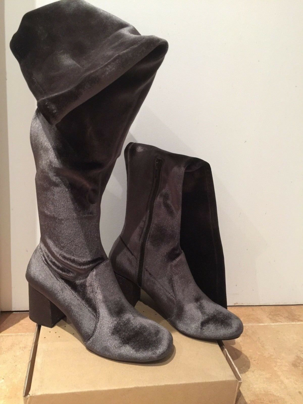 Velvet over the knees boots  New Size 8 UK 41EU
