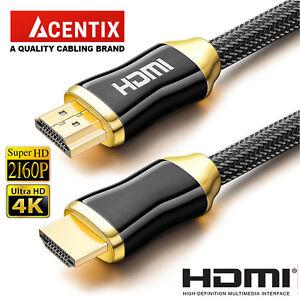 PREMIUM ULTRAHD HDMI CABLE HIGH SPEED 4K 2160p 3D LEAD 1m//2m//3m//4m//5m//7m//10m//15m