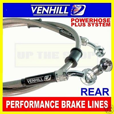 YAMAHA FZS600 FAZER 1998, VENHILL s/steel braided brake line rear CL