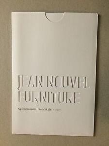 Jean Nouvel 2011 Gagosian Gallery 'furniture' Private View Invitation Card