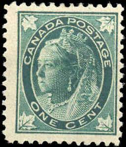 1897-Mint-H-Canada-F-Scott-67-1c-Maple-Leaf-Issue-Stamp
