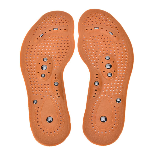Therapy Magnet Health Care Foot Massage Insoles Men/ Women Shoe Comfort Pads ZP