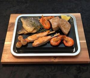 1 Xtra Large Sharing Steak Stone Platter Thick Black Lava Rock Sizzlin Hot Plate