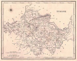 Map-of-County-Tyrone-N-Ireland-C1845
