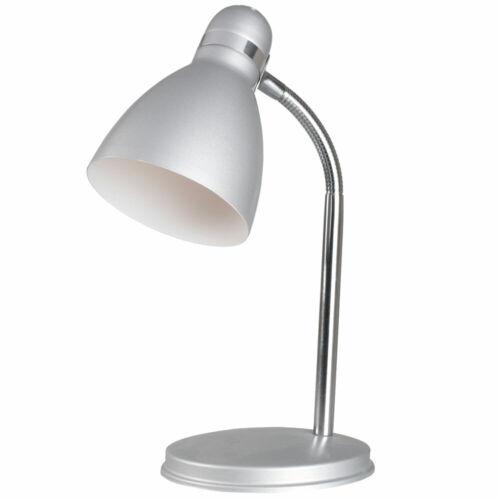Tisch Lampe Schlaf Zimmer Beleuchtung Lese Spot Leuchte grau Flexo Nacht Licht
