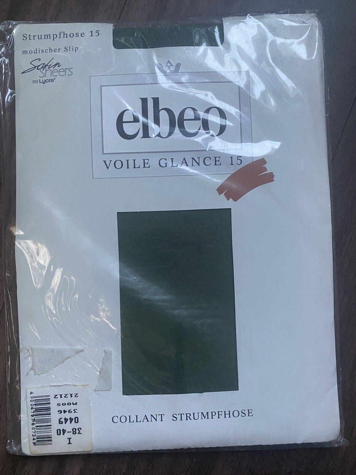 Elbeo Glanzstrumpfhose Voile Glance 15 Den Gr.I 38-40 moos grün