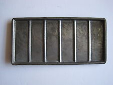 Vintage pressed tin chocolate bar mould -  6 rectangular sections