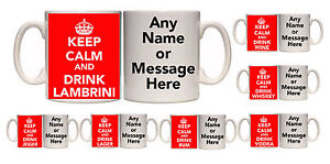 KEEP CALM AND DRINK PERSONALISED MUG AND COASTER (D1) COFFEE TEA 11 - 15oz GIFT