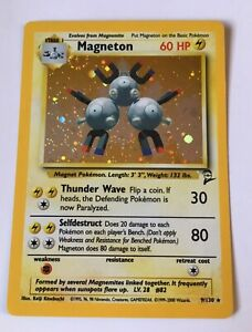 Pokemon-Cards-TCG-Magneton-Holo-Base-set-2-NM-C