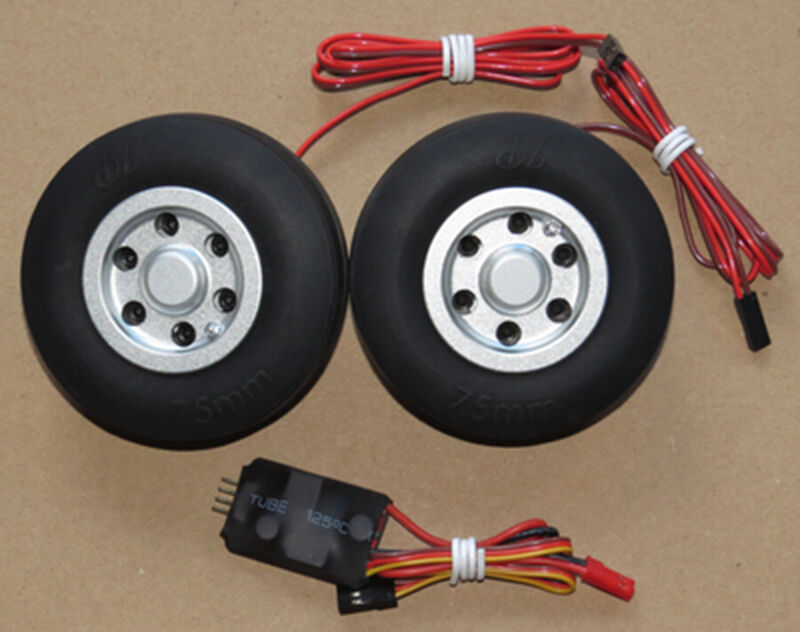 JP Spare Spare Spare Parts 75mm Brake Wheel Set for RC Fixed Wing Model Airplane Retract 3f2c1d