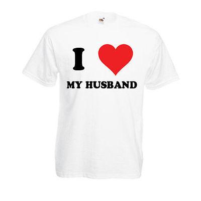 Analytisch Personalised I Love My Husband T-shirt Mens Ladies Womens Funny Novelty Gift Top Reichhaltiges Angebot Und Schnelle Lieferung