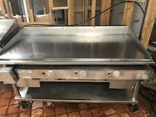 Keating 60 Inch Gas Chrome Plated Flat Top Commercial Grill