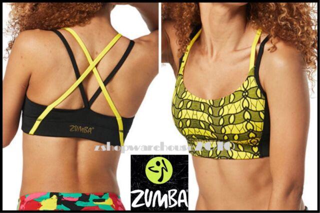 ZUMBA Fitness Covered in Kingston Bra Top u-l-t-r-a f-l-a-t-t-e-r-i-n-g S M L XL