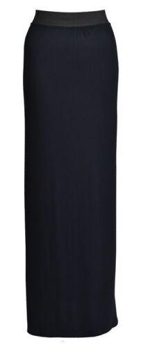 Womens Maxi Pencil Skirt Ladies Plain Jersey Bodycon Tube Flare Skirt Plus Size
