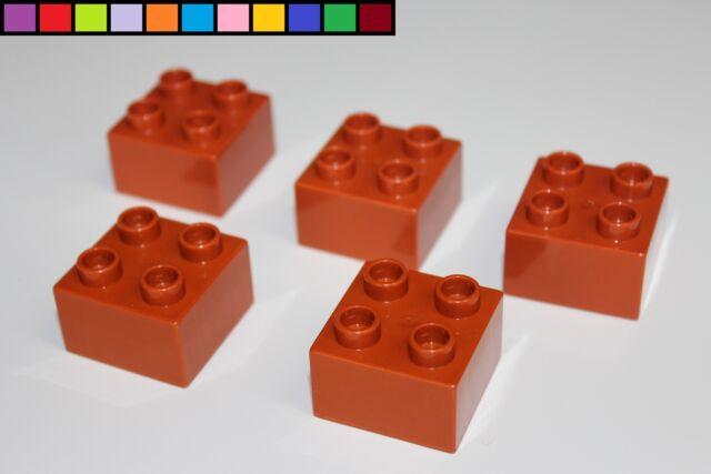 Lego Duplo hoch hell-braun 3 Bausteine 1 x 2 x 2-2er Noppen Steine