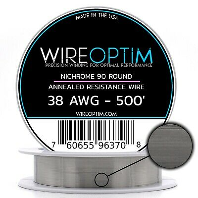 N90 Wire 38g GA 0.10 mm 500 ft 38 AWG Nichrome 90 Competition Wire 500/'