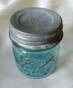 "BALL HALF 1//2 PINT BLUE MASON Jar /""Collector/'s Edition/""  NEW LID"