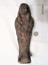 Ancient Egyptian Artifact LARGE Ushabti w/ Hieroglyphics, Cartouche & Scarab