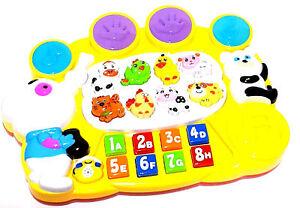Kinderspielzeug-Lernspielzeug-Musik-Tiere-Zahlen-Klavier-Piano-Keyboard-Licht