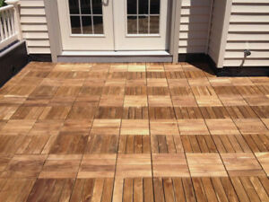 Delicieux Image Is Loading Anti Slip Wooden Decking Tiles Square Easy Click