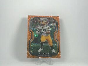 AJ Dillon 2020 Panini Prizm Football Orange Lazer Rookie Card RC #364 Packers