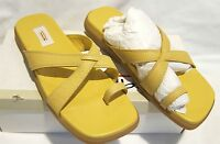 Talbots Yellow Leather Sandals Women's Sz 6.5 M elsa