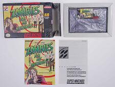 Zombies Ate My Neighbors SNES Super NES Complete CIB Box Cart Manual Konami 1994