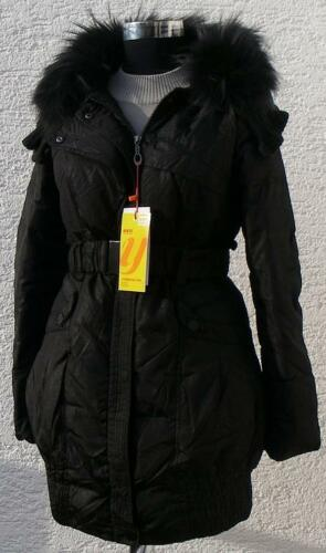 Parka Ladies Outdoor Fur Winter Girls Piumino Yh1807 Black Jacket Hooded E8wqTwgP