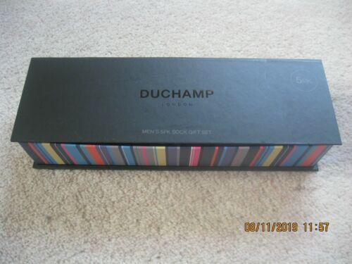 """5 Pares en Caja de regalo de presentación Duchamp /""""Calcetines de algodón egipcio LONDRES"""