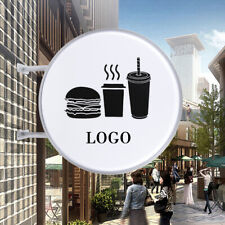 24 Led Double Sided Round Advertising Light Lamp Box Sign Logo Slogan Outdoor