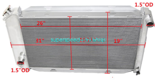 """Aluminum Racing 3 Row Radiator+10/"""" Fans fits for 71-73 Ford Mustang V8 MT ONLY"""